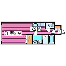 第6松屋ビル[702号室]の間取り