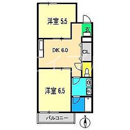 東ノ丸マンション[5階]の間取り