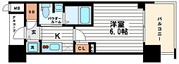 エステムプラザ心斎橋EAST4ブランディア[5階]の間取り