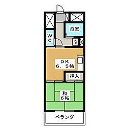 ダイアパレスステーションサイド静岡1号館[8階]の間取り