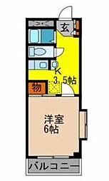 エレガンス箕面[2階]の間取り