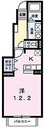 東京都多摩市豊ヶ丘2丁目の賃貸アパートの間取り