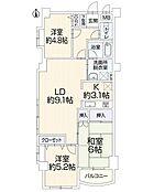 充実内容の新規内装リノベーションマンション 南バルコニー ペット可 落ち着ける和室有り 南西角部屋