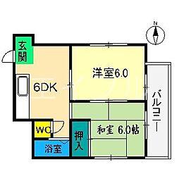 川田マンション[2階]の間取り