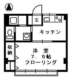 コーポコスモス[3階]の間取り