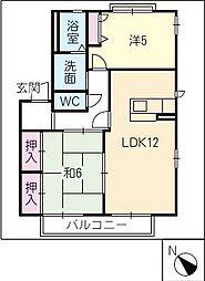 ヴェルドミール葵B棟[2階]の間取り