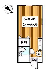 神奈川県横浜市神奈川区羽沢南1丁目の賃貸アパートの間取り