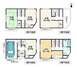 Osaka Metro四つ橋線 住之江公園駅 徒歩10分 4LDKの間取り