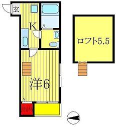 プライムメゾン[1階]の間取り
