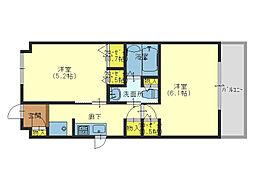 エステムプラザ大阪城パークフロント[11階]の間取り