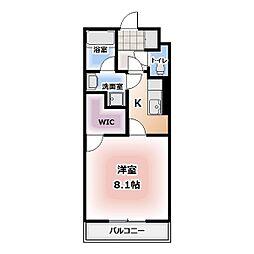オランジュ シャン[102号室]の間取り