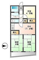 メゾン・ド・ベルコリーヌ[2階]の間取り