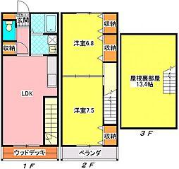 [テラスハウス] 千葉県千葉市中央区青葉町 の賃貸【/】の間取り