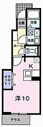 ファイン・ピース土山[1階]の間取り