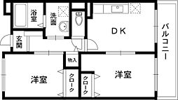 ガーデンパレス21[1階]の間取り