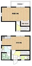 ルナ・ロッサ霞台[102号室]の間取り