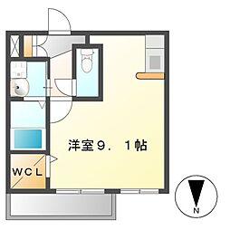 プレサンス桜通アベニュー[2階]の間取り