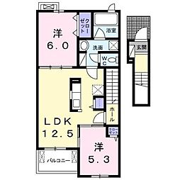 イーストシュラインI[2階]の間取り