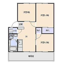 ロッキーハウス[101号室号室]の間取り