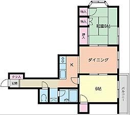 神奈川県横浜市磯子区杉田2丁目の賃貸マンションの間取り