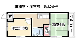 愛知県名古屋市昭和区川名町3丁目の賃貸マンションの間取り