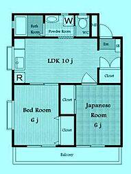 パールハイムコナヤI[3階]の間取り