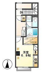 レオパレスサン秋竹[2階]の間取り