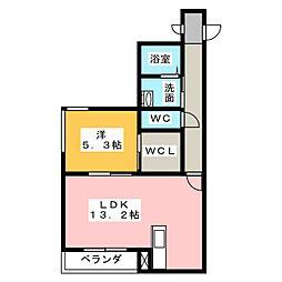 シャーメゾン[1階]の間取り
