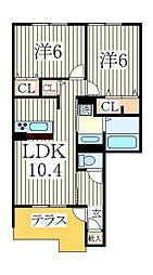 HANABUSA I[1階]の間取り