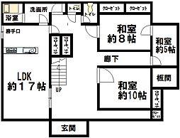 新潟県長岡市大積三島谷町 2階6LDKの間取り