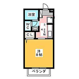 クレセント中仙道III[1階]の間取り