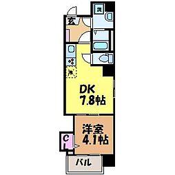愛媛県松山市立花3丁目の賃貸マンションの間取り