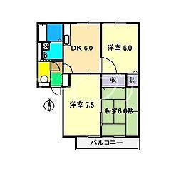 シオン神田II[2階]の間取り