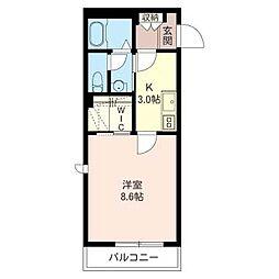 メルベイユ南太田[2階]の間取り