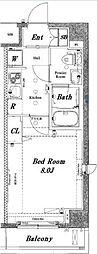 アクサス門前仲町レジデンス[4階]の間取り