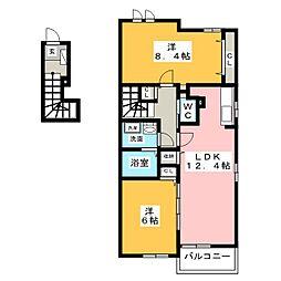 リス・ブランII・III[2階]の間取り