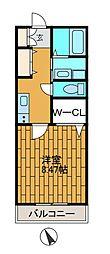 ベレオ東林間[3階]の間取り