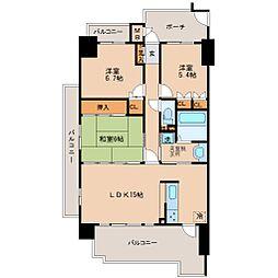 サーパス諏訪野第2[8階]の間取り