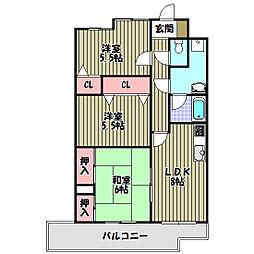 パークヒルズ千代田[3階]の間取り