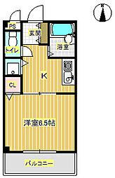 コムプラザII[1階]の間取り