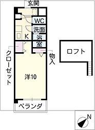 デュークK[4階]の間取り