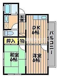 アミューズ新川[1階]の間取り