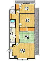 国府台マンション(75平米)[304号室]の間取り