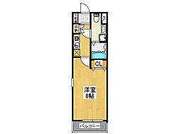 セゾンクレアスタイル新今里[2階]の間取り
