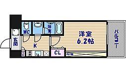 スプランディッド難波II[12階]の間取り