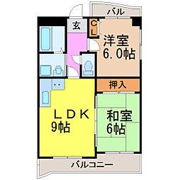 愛知県名古屋市千種区大久手町6丁目の賃貸マンションの間取り