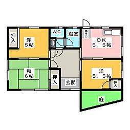[一戸建] 静岡県袋井市豊沢 の賃貸【/】の間取り
