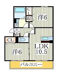 リ・サクラA[2階]の間取り