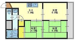 ユニ小阪[102号室]の間取り