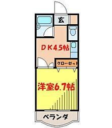 大阪府箕面市船場西3丁目の賃貸マンションの間取り